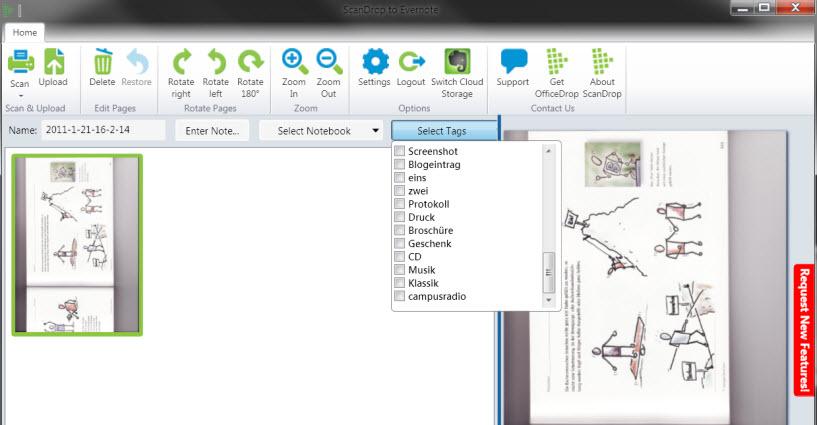 ScanDrop - von Scanner zu Evernote ohne Umwege