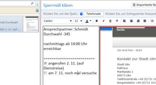 Flinke Anrufverwaltung mit Evernote und lokalen Links