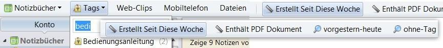 Die neue Powerleiste von Evernote