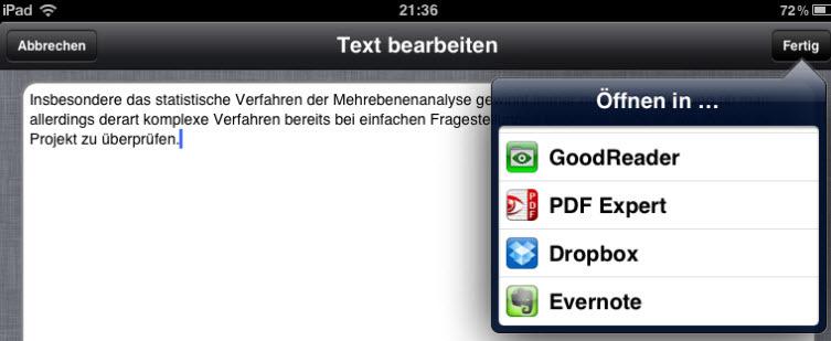Deutsche Spracherkennung für Evernote