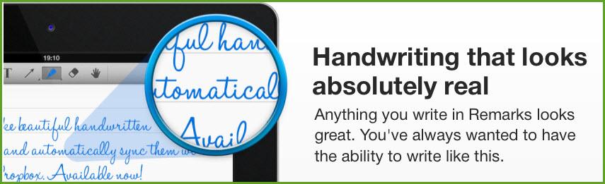 iPad-Remarks - bessere Handschrift