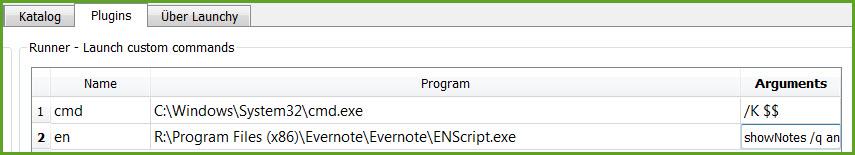 Evernote über die Kommandozeile steuern