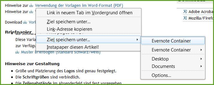 Dateien aus dem Web ohne Umwege speichern