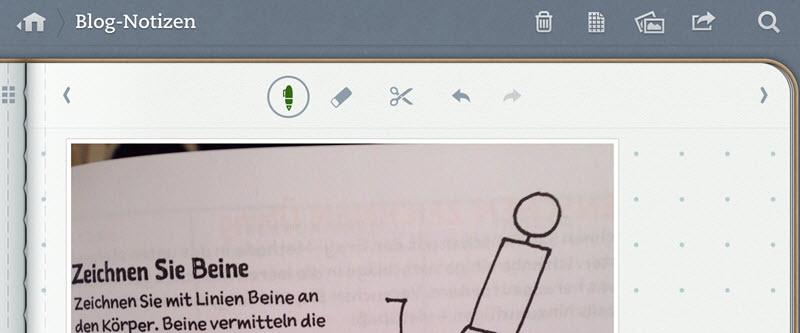 Papierbuch an Evernote