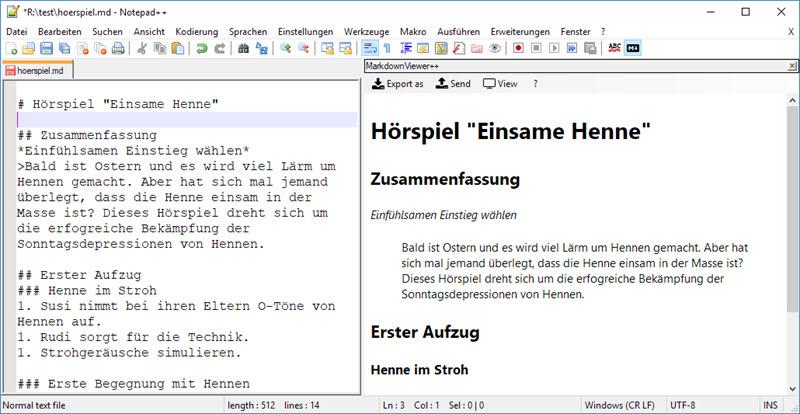 Texteditor Notepad++ mit Markdown-Viewer erweitern – Evernote für Pfiffige