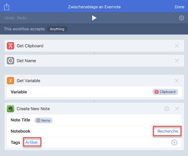 Eigene Sprachbefehle für Evernote definieren (iOS 12) – Evernote für Pfiffige